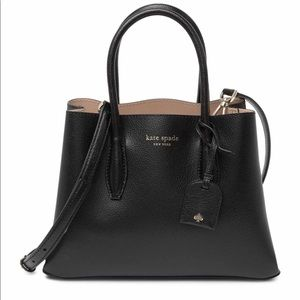$329 Kate Spade Black Leather Satchel crossbody
